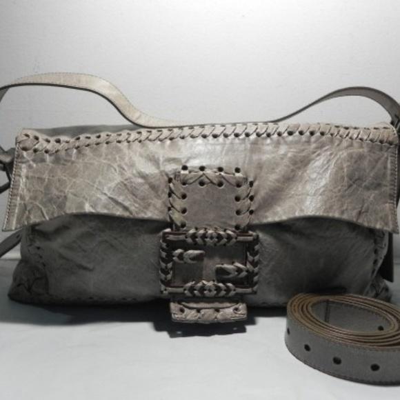 4297b6b4418 Fendi Bags   Whipstitch Leather Baguette Messenger Bag   Poshmark